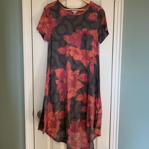 LulaRoe Medium Floral Carly Dress